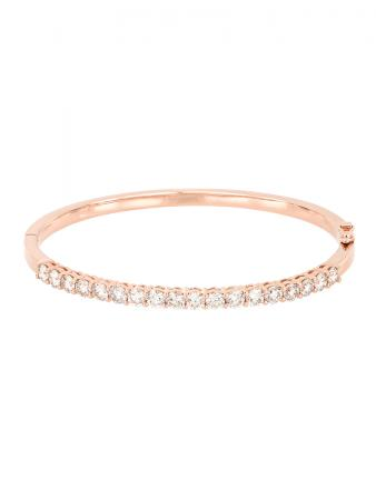Pulsera oro rosa y diamantes